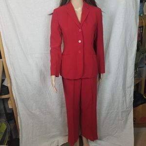 Ann Taylor 4p Red business suit